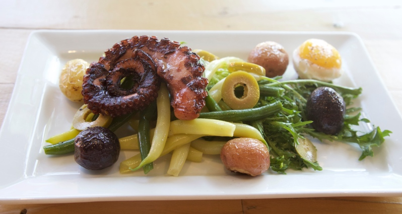 Grilled Octopus Salad Nicoise Style - Photo by Beth Clauss
