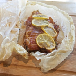 Trout Saltimbocca Cartoccio - Photo by Beth Clauss