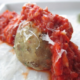 Lentil and Quinoa Meatball with Roasted Tomato Sauce
