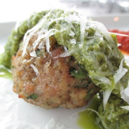 Spicy Pork Meatball with Fennel Pistou